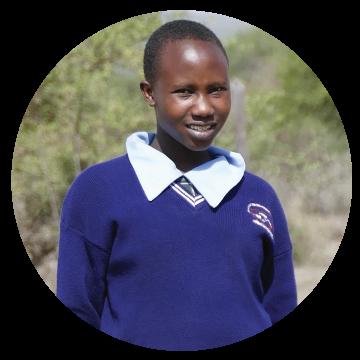 Grace, Kenya. A girl student