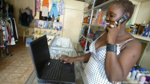 African do business using mobile phones