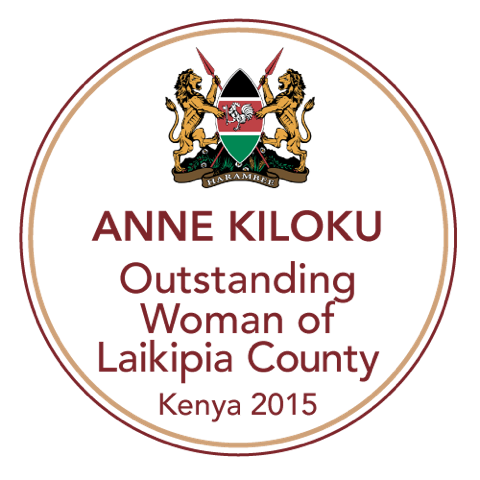 Awarded 'Outstanding Woman of Laikipia County'