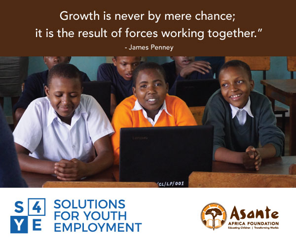 Asante Africa Partners with S4YE (Solutions for Youth Employment)