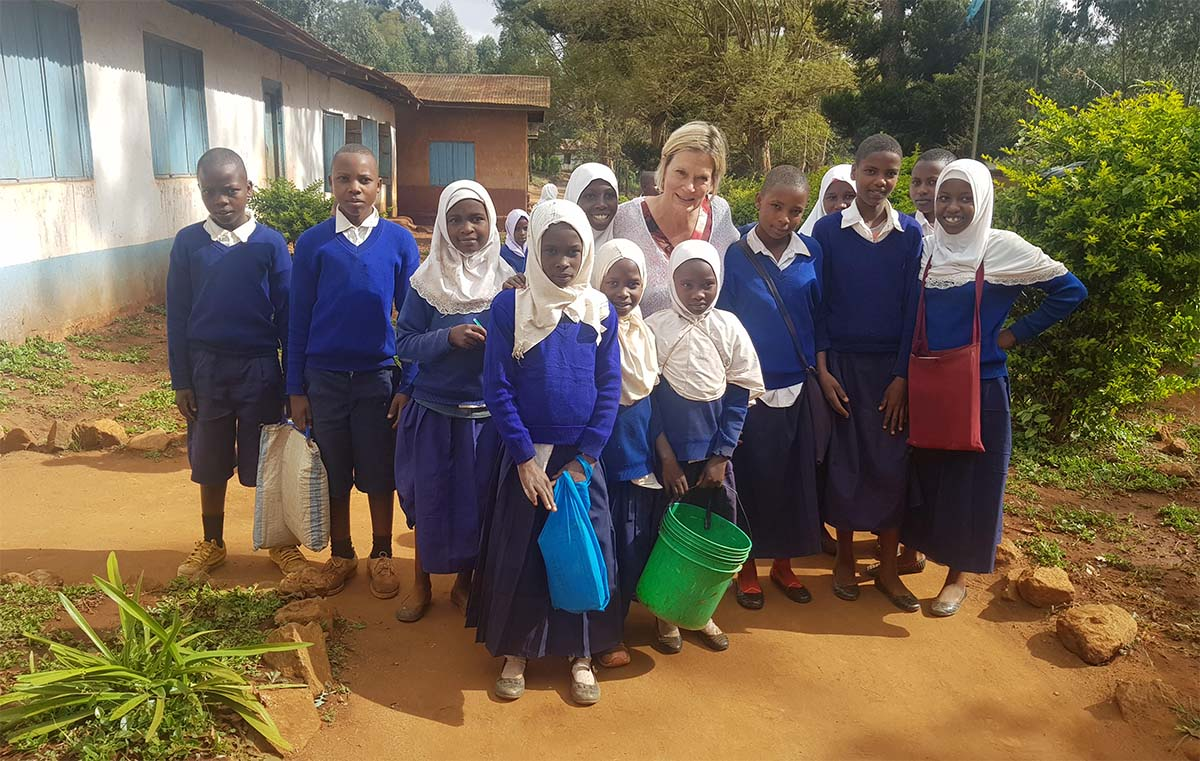 Erna Grasz with East African students
