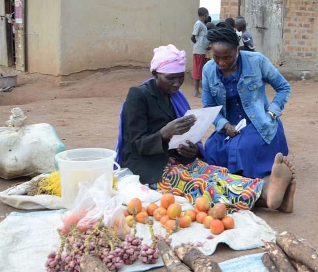 women selling food in market
