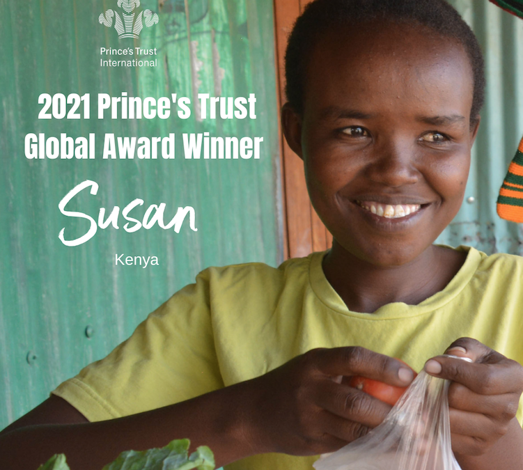 Prince's Trust Global Award Winner Susan, Asante Africa Alumni