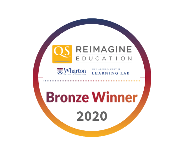 2020 Bronze Winner at the Reimagine Education Awards