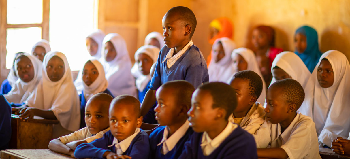students in classroom in East Africa