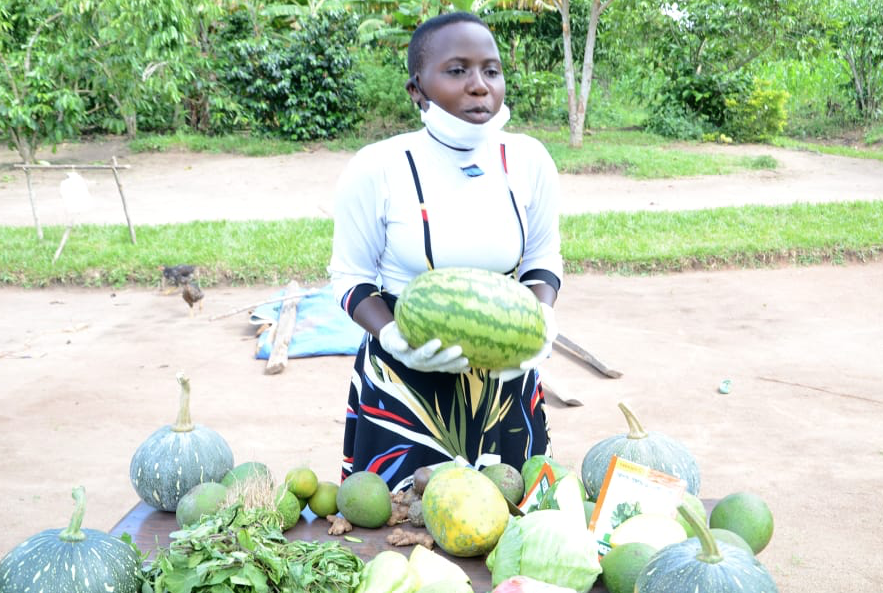 Zarina as a young entreprenuer selling watermelon