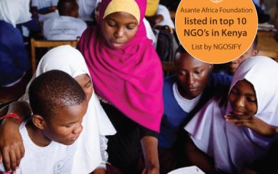 Asante Africa Foundation on List of Top 10 Kenya NGOs