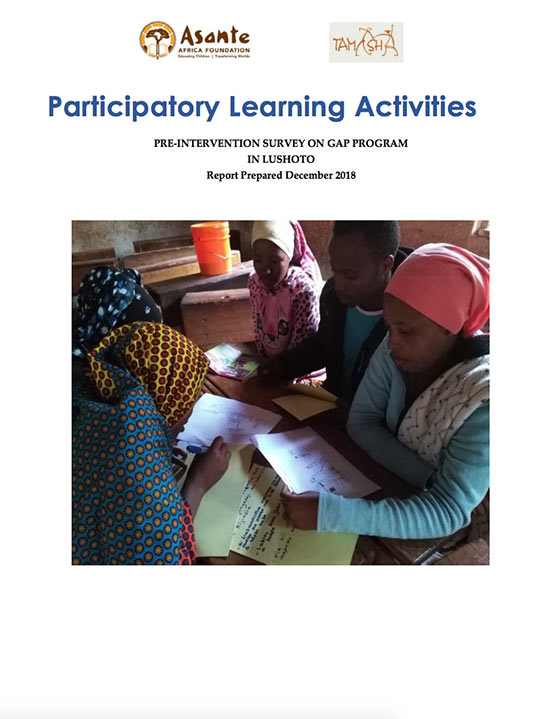 Participatory Learning Activities